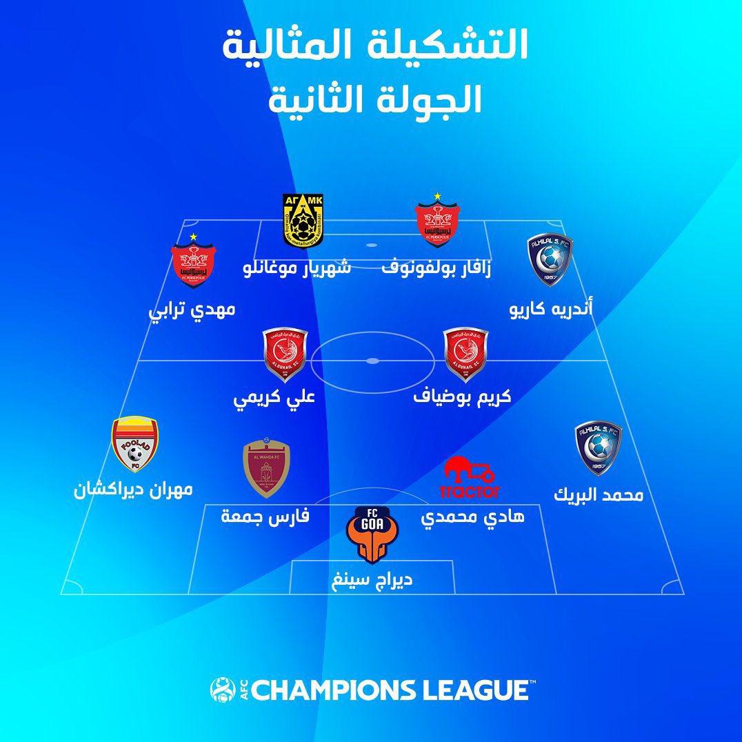 تیم منتخب AFC با سرخهای ایران و بدون آبی پوشان