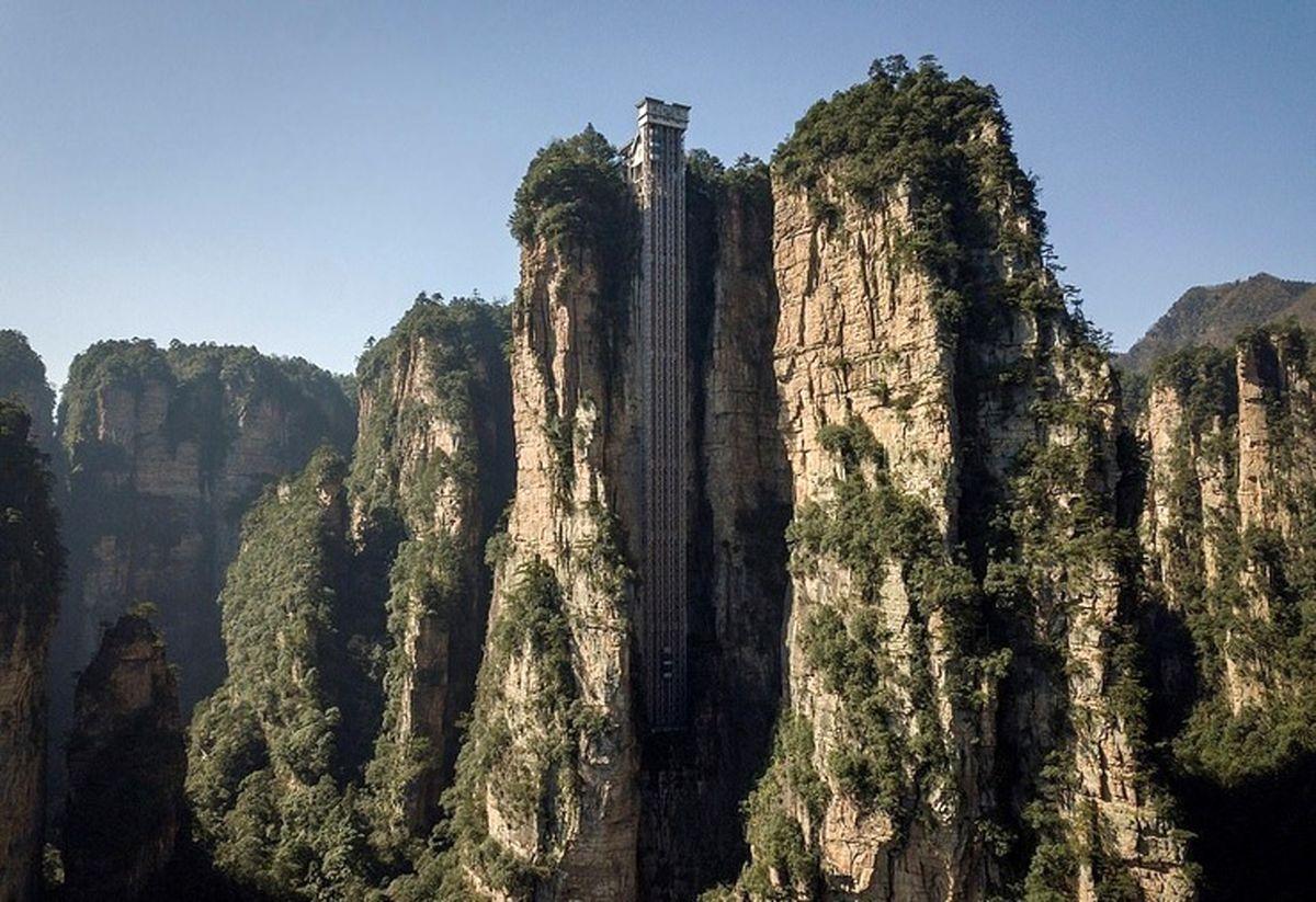 بلندترین آسانسور دنیا در دل طبیعت فیلم
