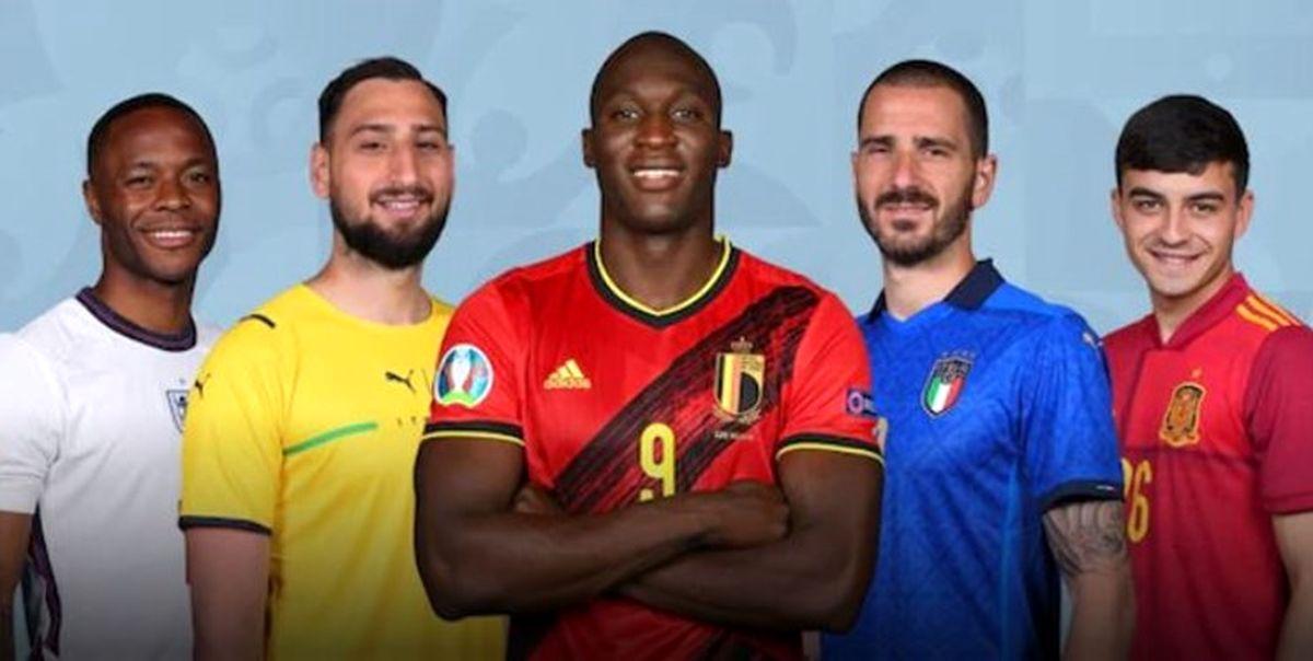 رونمایی از تیم منتخب یورو 2020  عکس