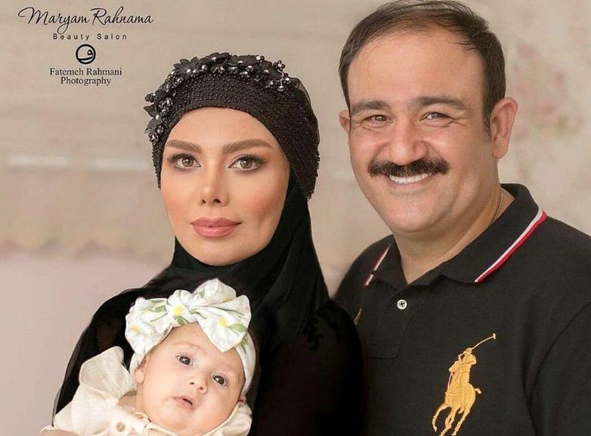 عکس منشوری همسر مهران غفوریان در خارج از کشور|شوخی عجیب مهران غفوریان با همسرش