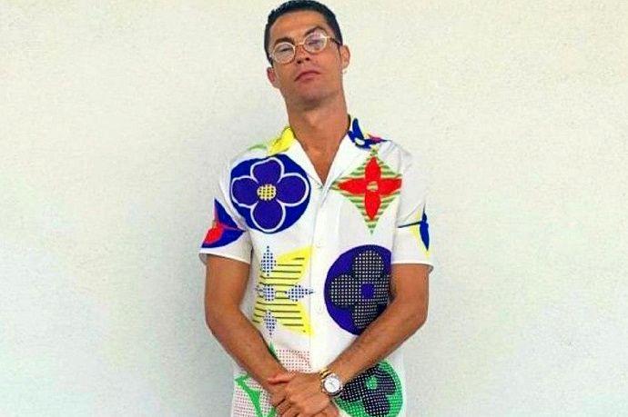 سوژه شدن لباسهای رونالدو؛ لویی ویتون رنگارنگ ۳۰ میلیون تومانی! + عکس