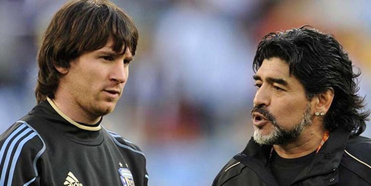مسی به مارادونا|قوی باش دیگو