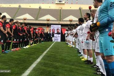 تصاویر دیدار تیم ملی ۹۸ و پیشکسوتان سرخابی به یاد انصاریان و میناوند