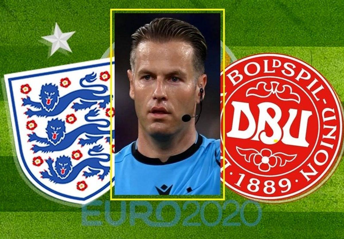یورو ۲۰۲۰ /  ماکلی داور دیدار انگلیس - دانمارک شد