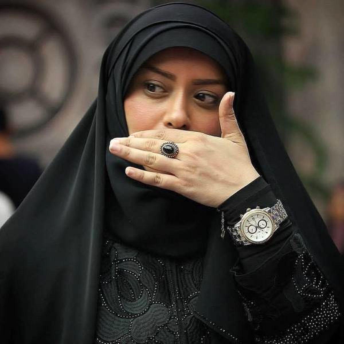اولین حضور همسر روحانی الهام چرخنده در جشنواره باغ موزه دفاع مقدس +عکس
